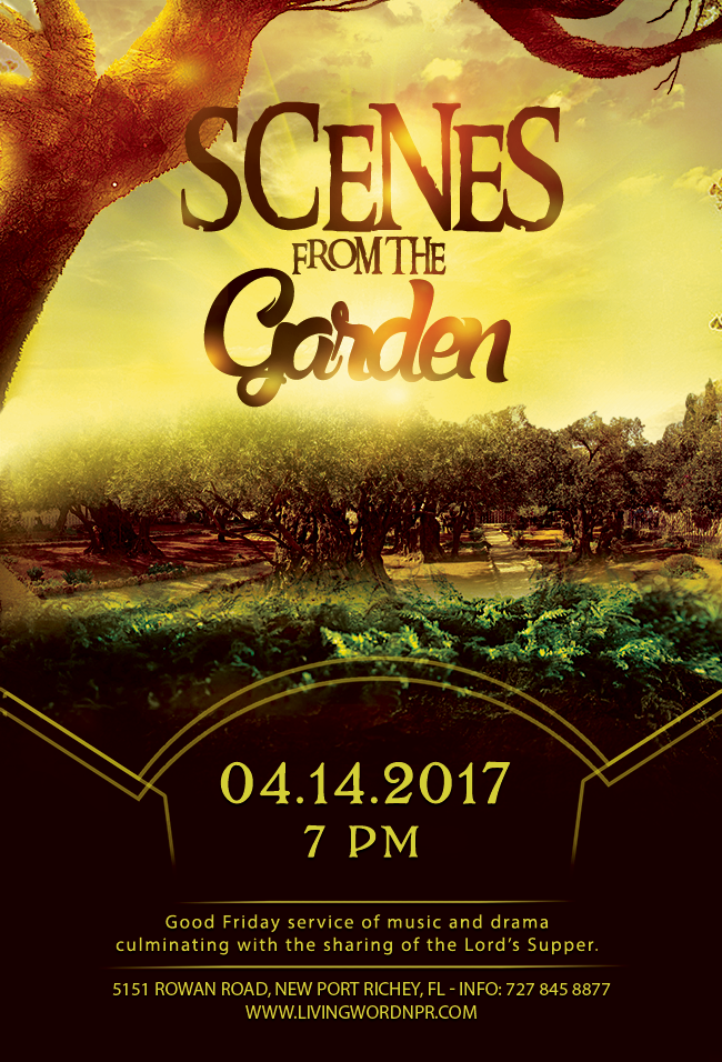 The Garden Of Eden Church Flyer