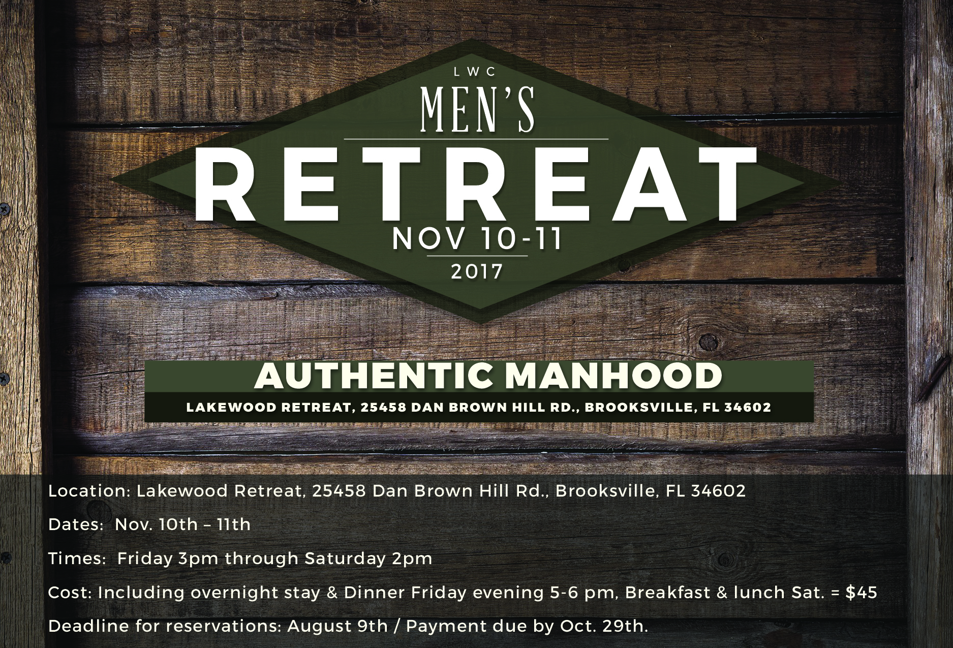 mens Retreat  Flyer